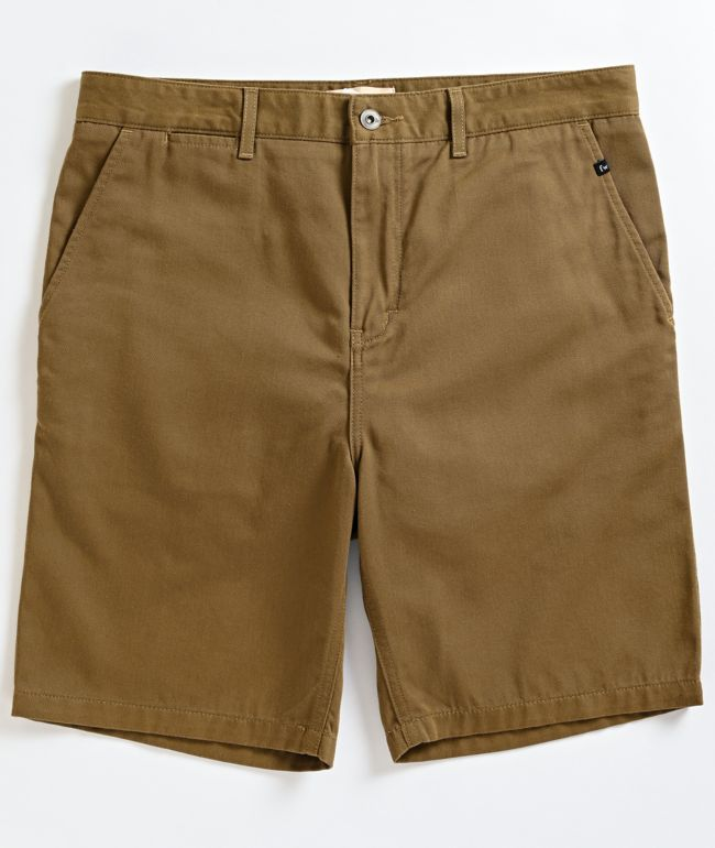 Freeworld Walker Dark Khaki Chino Shorts