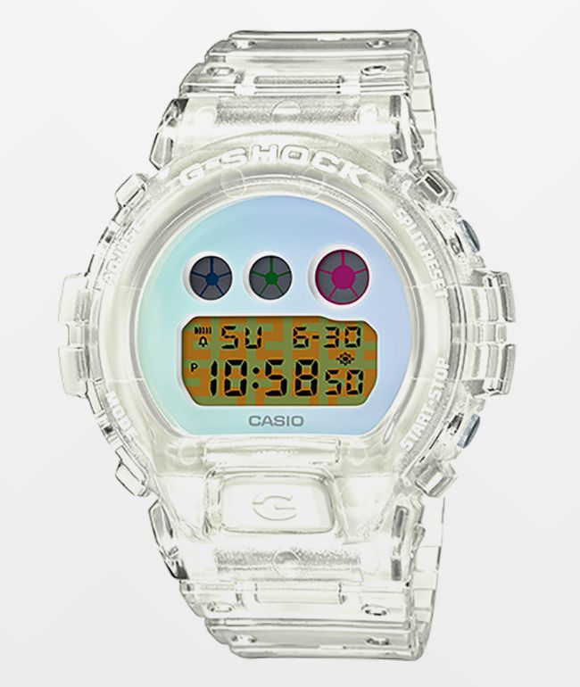G-Shock DW6900 25th Anniversary Transparent White Digital Watch