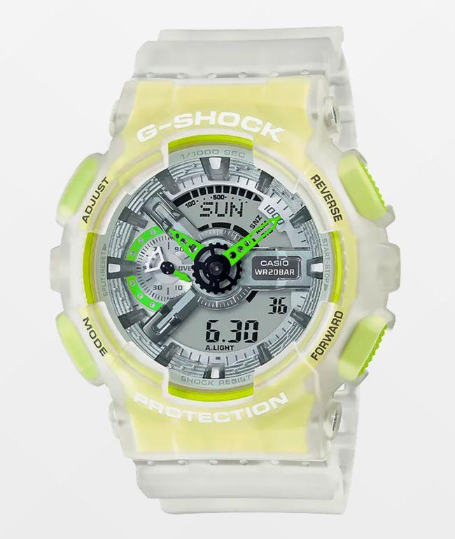 G-Shock GA110 Clear & Yellow Watch