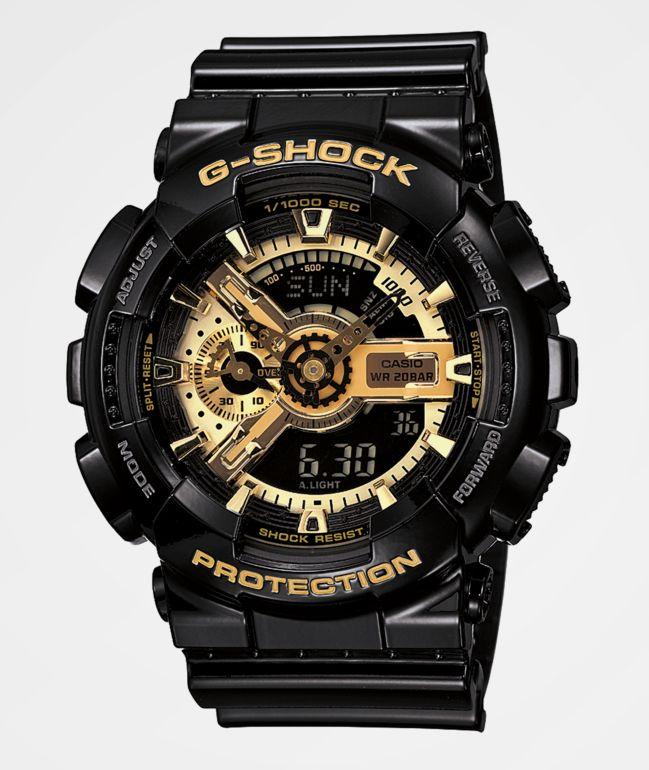 G-Shock GA110GB-1A Black & Gold Watch
