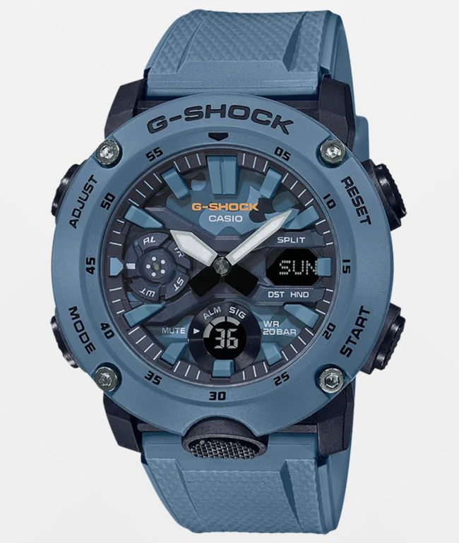 G-Shock GA2000S-2A Blue Analog and Digital Watch