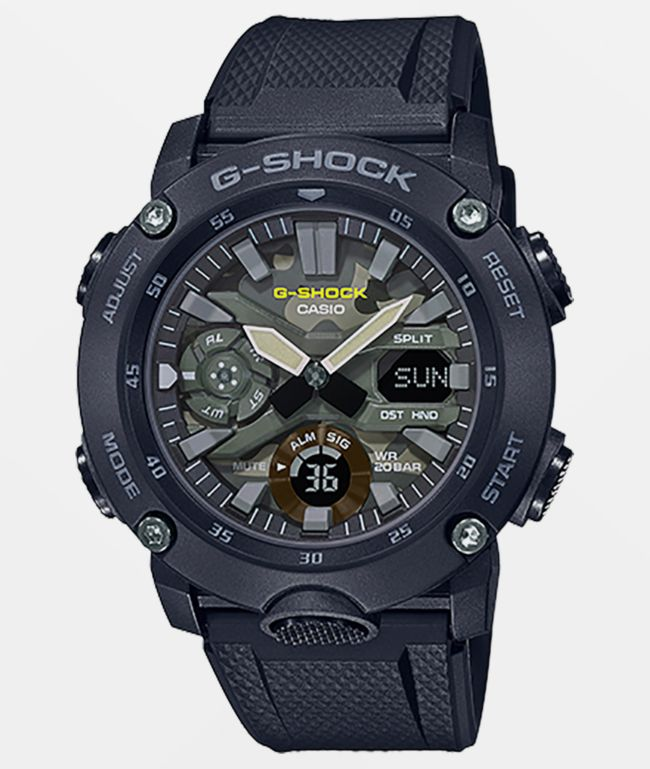 G-Shock GA2000SU Black & Camo Analog and Digital Watch