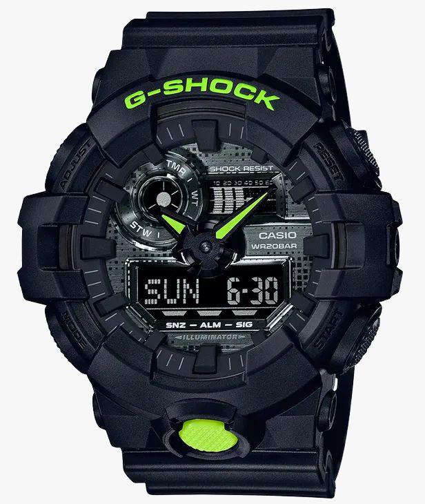 G-Shock GA700 Black & Digital Camo Watch