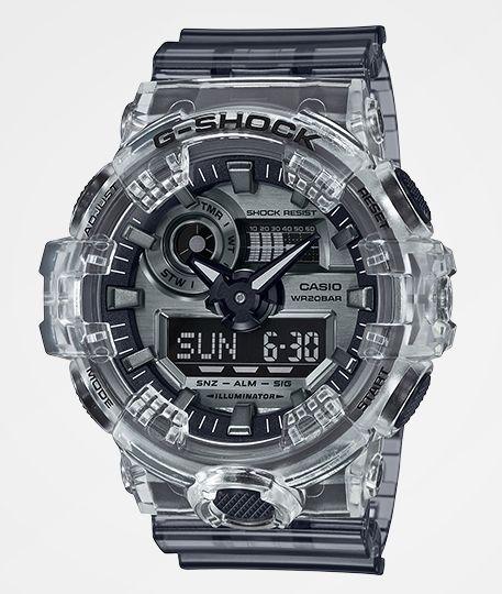 G-Shock GA700 Clear & Dark Grey Watch