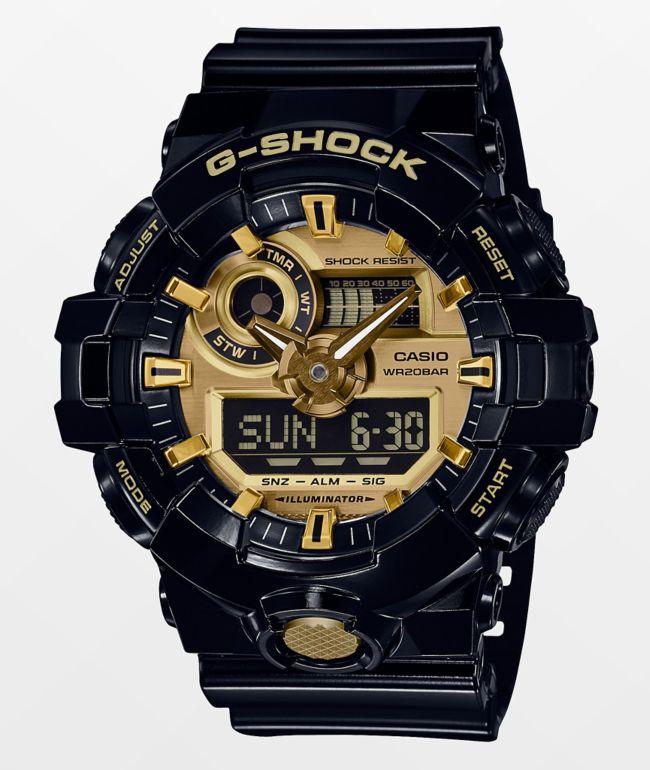 G-Shock GA710GB-1AG Black & Gold Watch
