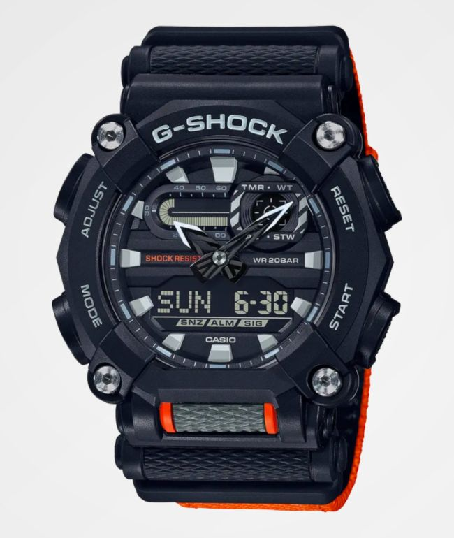 G-Shock GA900C-1A4 Black & Orange Digital & Analog Watch