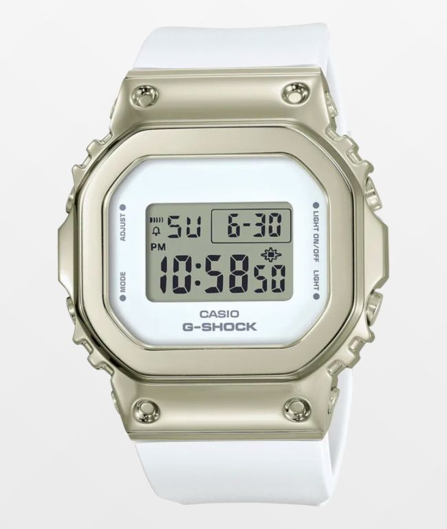 G-Shock GM-S5600G-7 White Gold Digital Watch