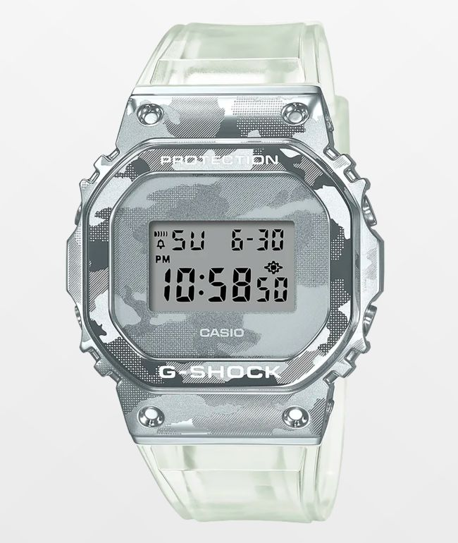 G-Shock GM5600SCM-1 Clear Camo Digital Watch