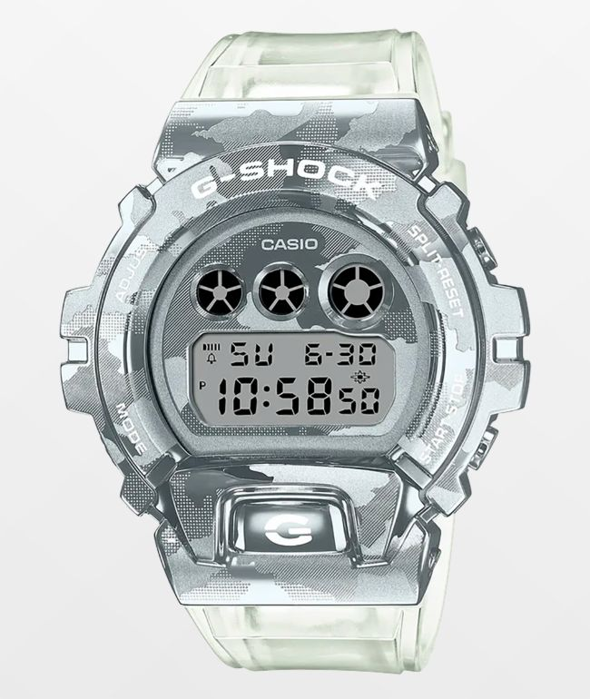 G-Shock GM6900SCM-1 Clear Camo Digital Watch
