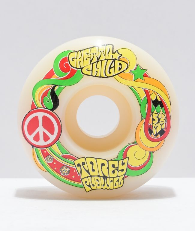 Ghetto Child Pudwill Peace 52mm 101a White Skateboard Wheels