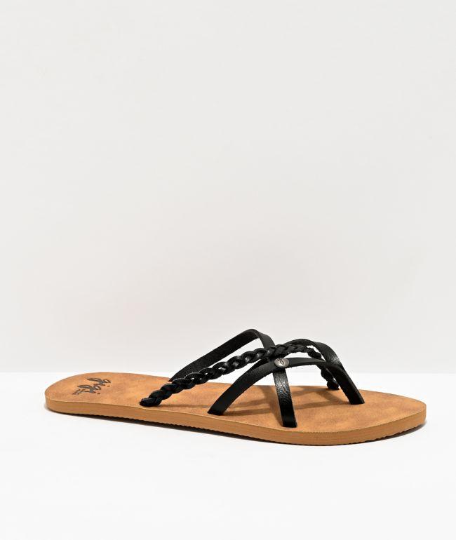 Gigi Star Brown & Black Sandals