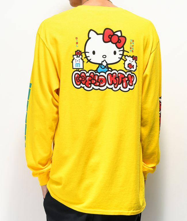 Girl x Hello Kitty 45th Anniversary Yellow Long Sleeve T-Shirt