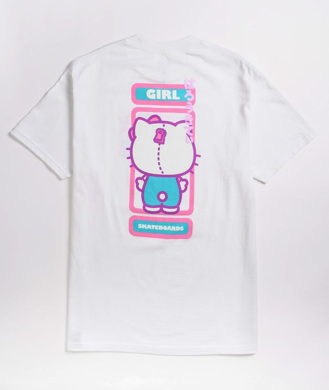 Girl x Sanrio Backside White T-Shirt