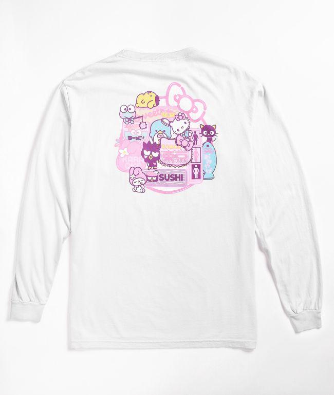 Girl x Sanrio Restaurant White Long Sleeve T-Shirt