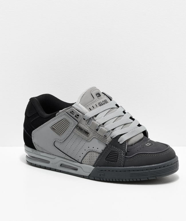 Globe Sabre Dark Grey, Grey & Black Skate Shoes
