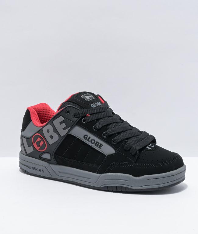 Globe Tilt Black, Carbon & Red Skate Shoes