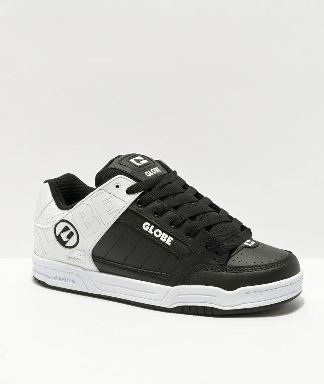 Globe Tilt Black & White Split Skate Shoes