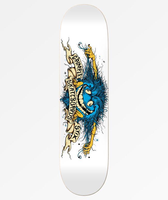 ANTI HERO Skateboards GRIMPLE STIX NightHammer Old School Shaped Skateboard Deck