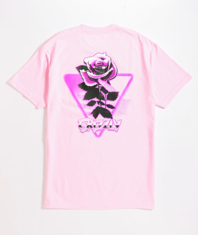 Grizzly Chrome Rose Pink T-Shirt