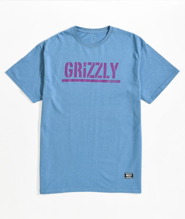 Grizzly Stamp Slate Blue T-Shirt