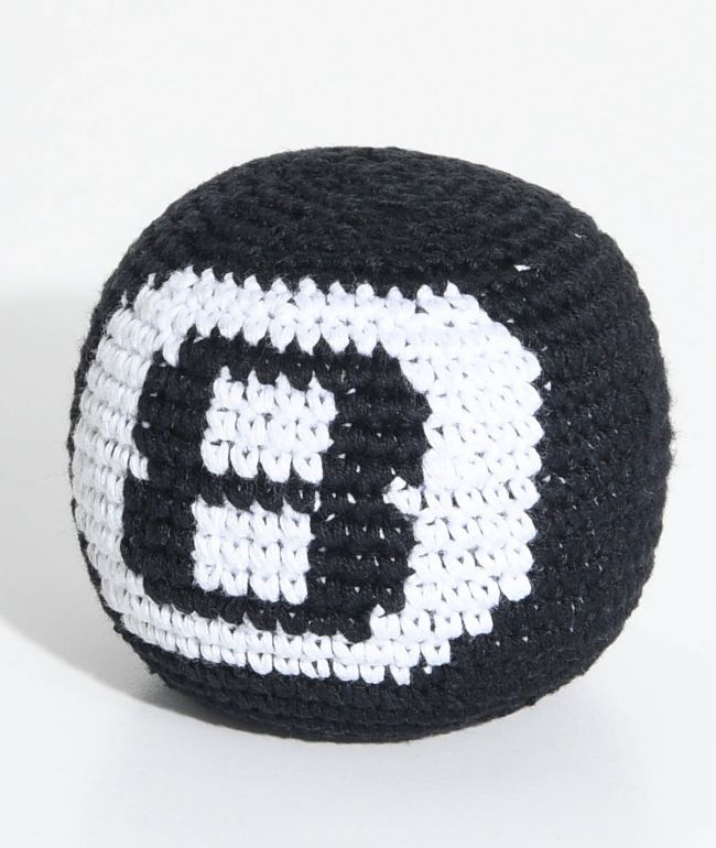 Guatemalart 8 Ball Black Hacky Sack