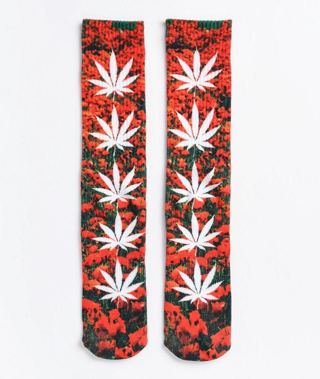 HUF Digital Plantlife Poppy Crew Socks
