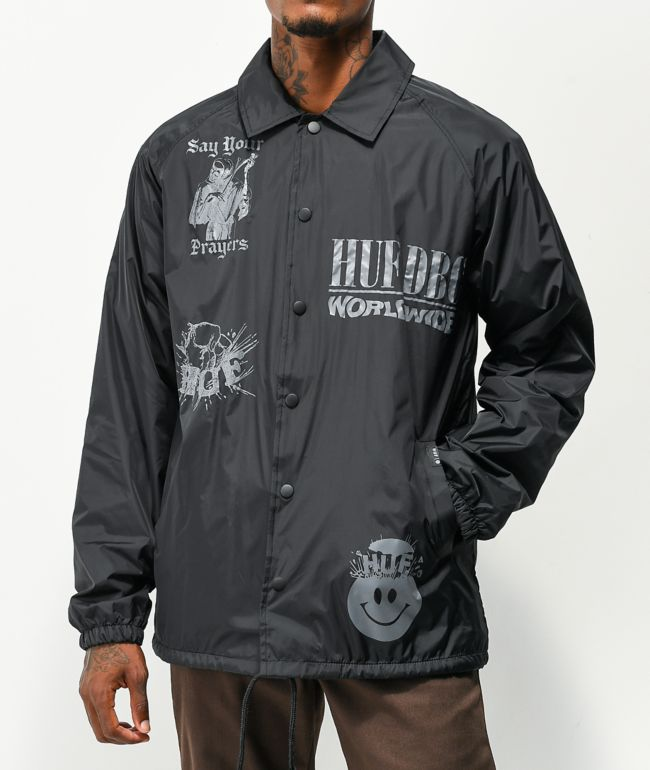 HUF Disorder Black Coaches Jacket