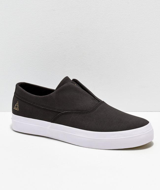 HUF Dylan Slip-On Black \u0026 White Leather