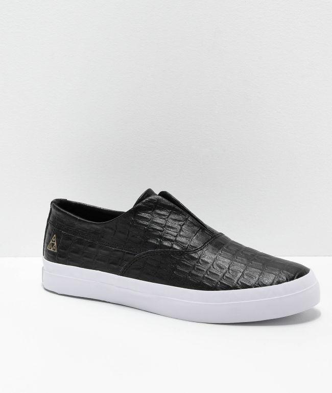 HUF Dylan Slip-On Black Croc Leather
