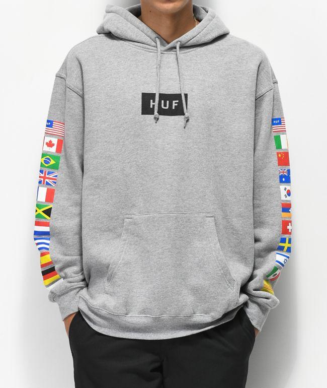 HUF Flags Grey Hoodie