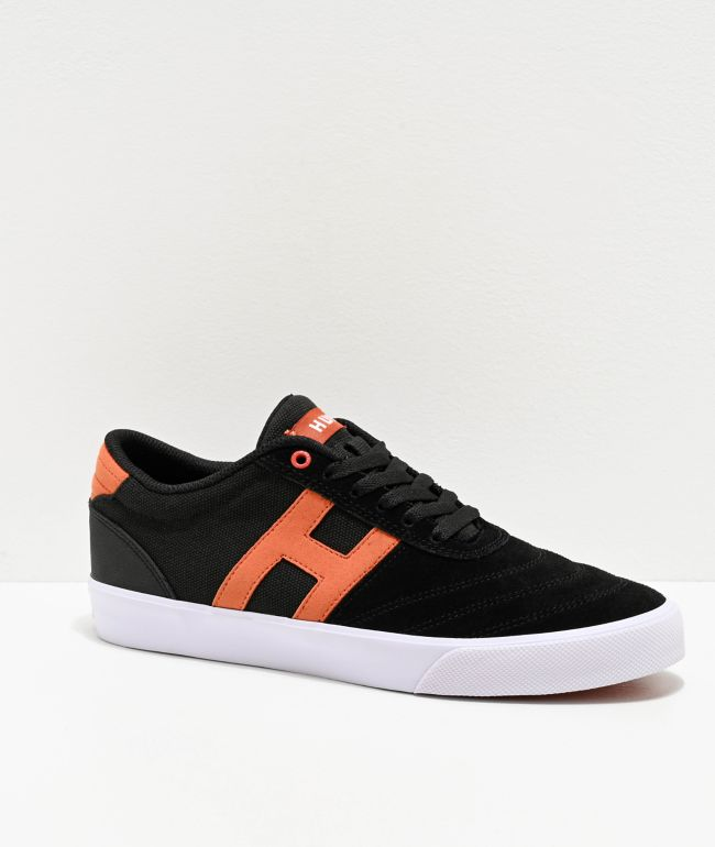 HUF Galaxy Black, Brick & White Skate Shoes