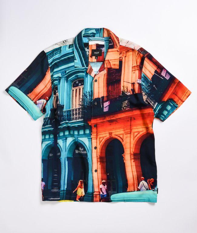 HUF Havana Resort Woven Short Sleeve Button Up Shirt