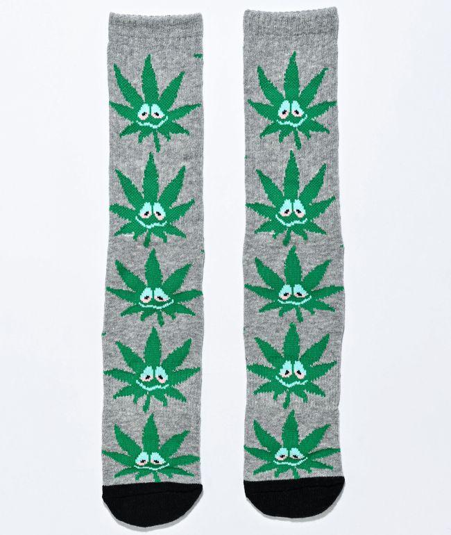 HUF Plantlife Green Buddy Grey & Green Crew Socks