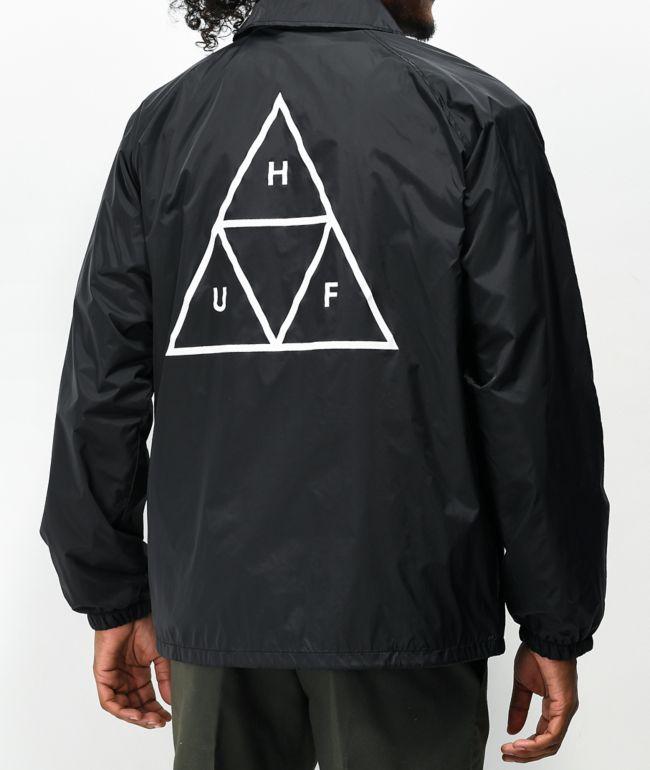 HUF Triple Triangle Black Coaches Jacket