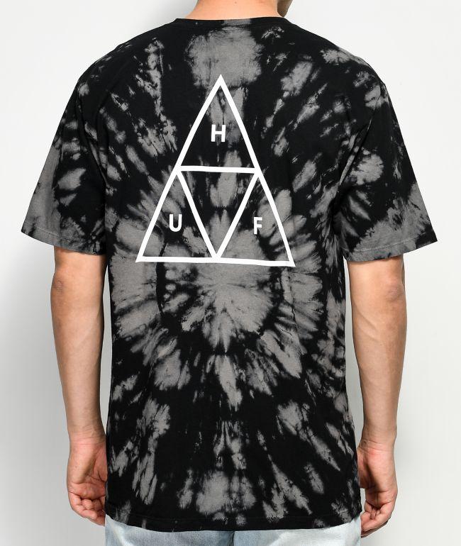 HUF Triple Triangle Black Washed T-Shirt