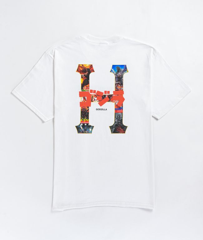 HUF x Godzilla Classic H White T-Shirt