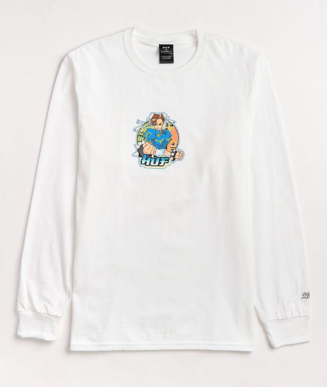 HUF x Street Fighter Chun-Li White Long Sleeve T-Shirt
