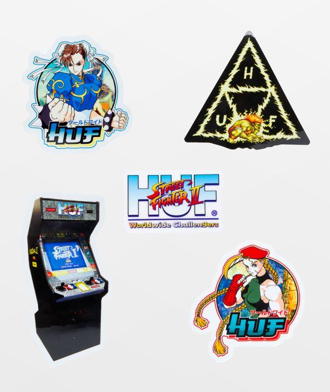 HUF x Street Fighter Sticker Pack