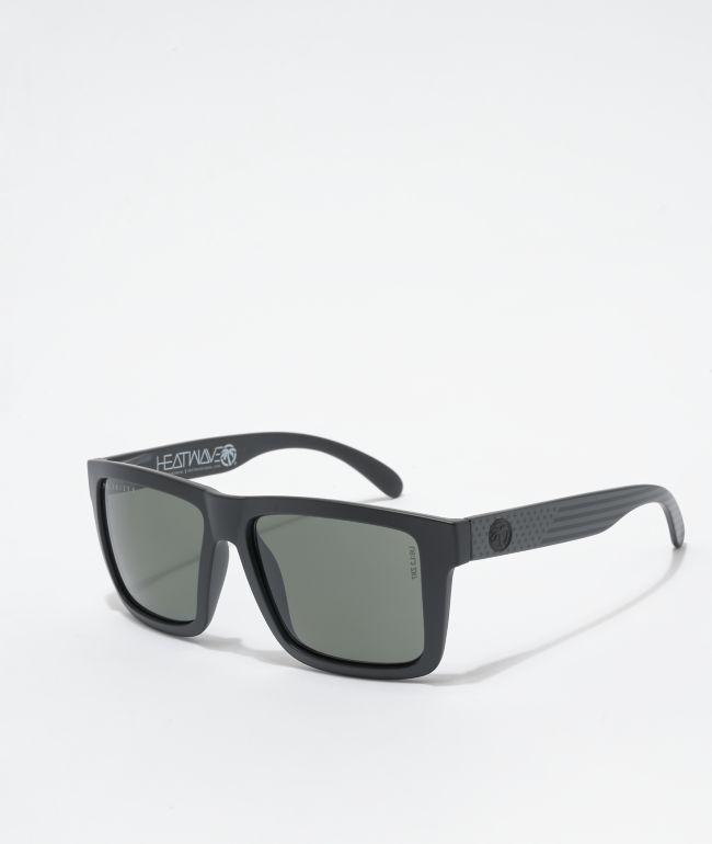 Heat Wave Vise XL Stars & Stripes Polarized Black Sunglasses