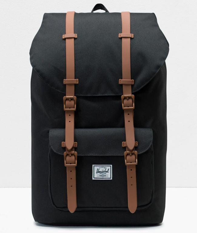 Herschel Little America Black & Saddle Backpack