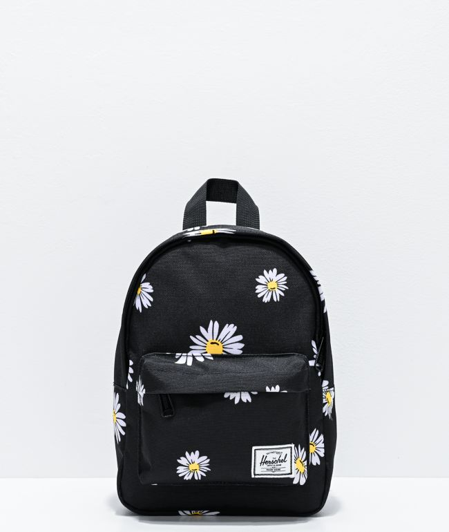 Herschel Supply Co. Classic Daisies Black Mini Backpack