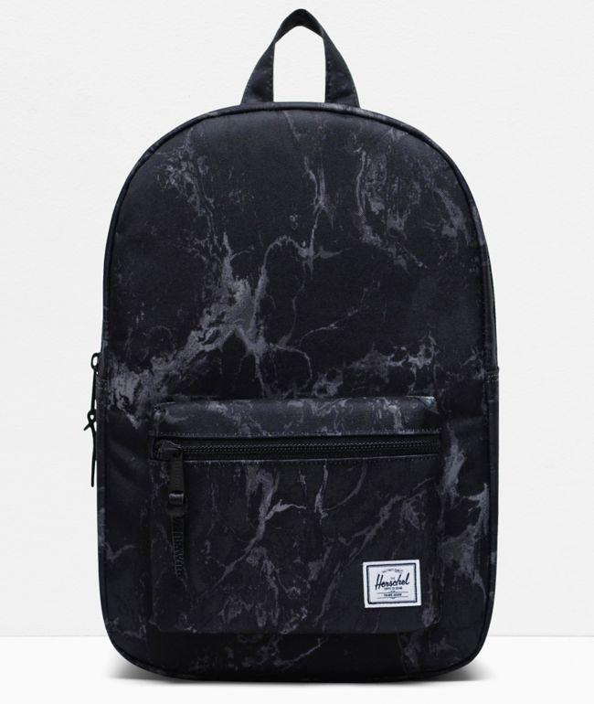 Herschel Supply Co. Settlement Mid Black Marble Backpack
