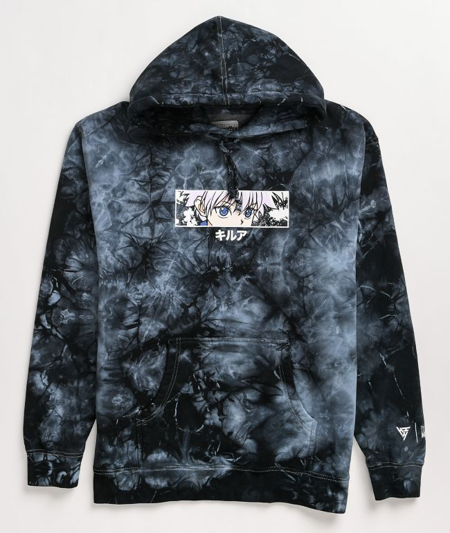Hypland x Hunter x Hunter Killua Eye Black Tie Dye Hoodie