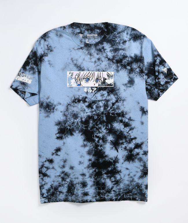 Hypland x Hunter x Hunter Killua Eye Blue & Black Tie Dye T-Shirt
