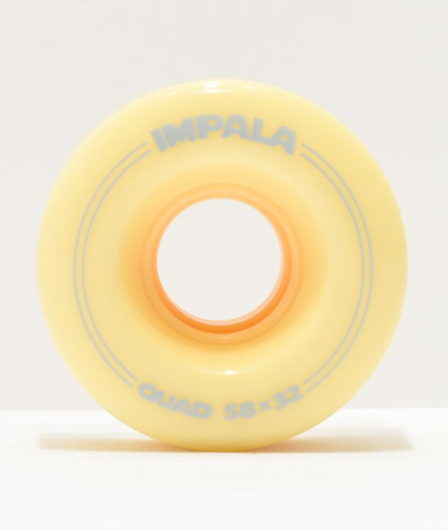 Impala 58mm 82a Pastel Yellow Roller Skate Wheels