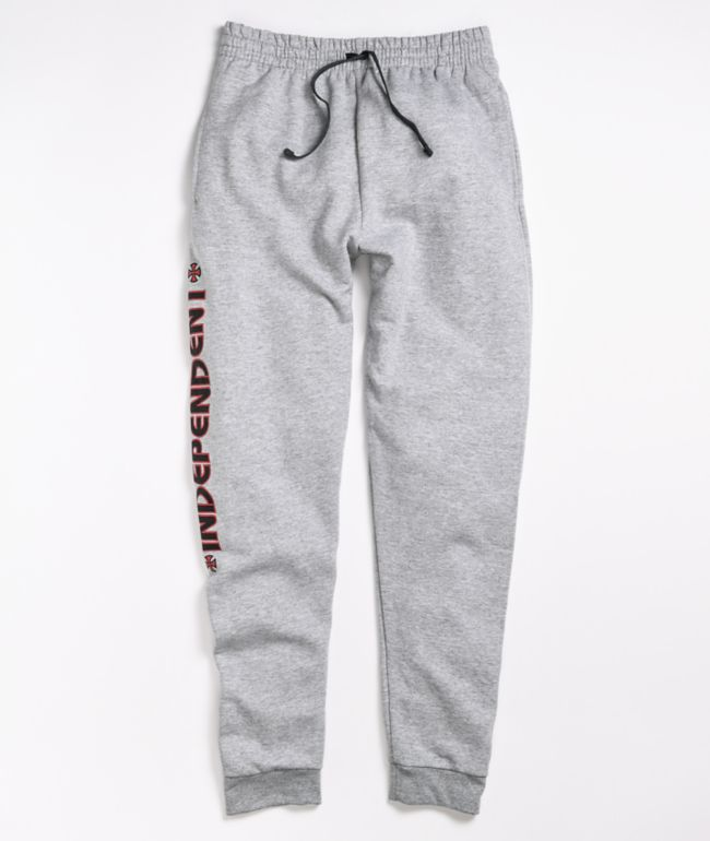 Independent Bar Cross Grey Sweatpants
