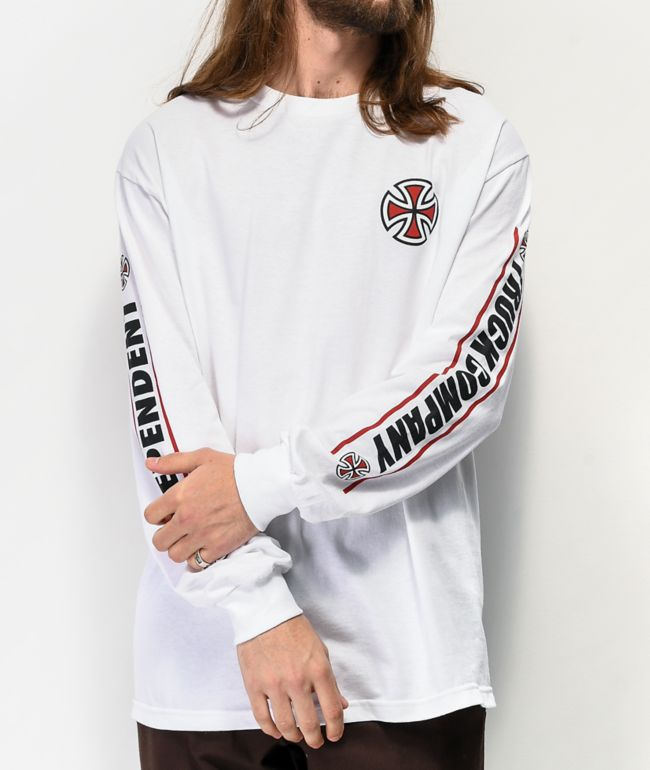 Independent Shear White Long Sleeve T-Shirt