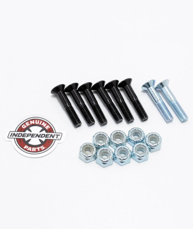 "Independent Silver Crossbolts 1"" Skateboard Hardware"