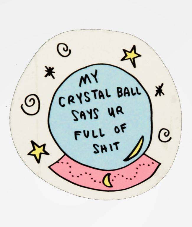 JV by Jac Vanek Crystal Ball Sticker