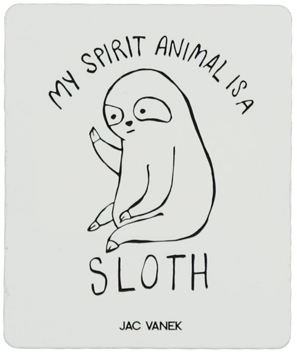 JV by Jac Vanek Spirit Sloth pegatina